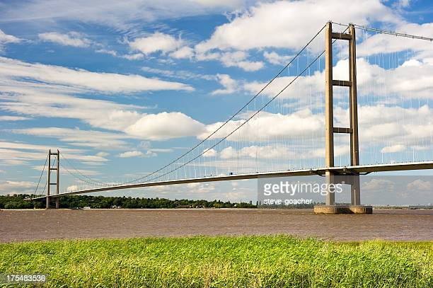 Daytime view of the Humber bridge in England