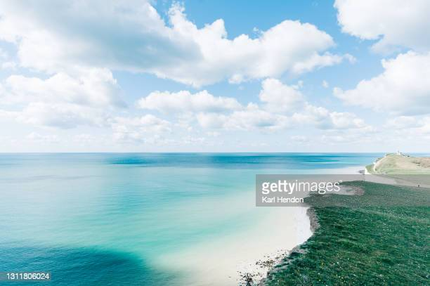 a daytime view of the seven sisters cliffs on the east sussex coast - stock photo - east stock pictures, royalty-free photos & images