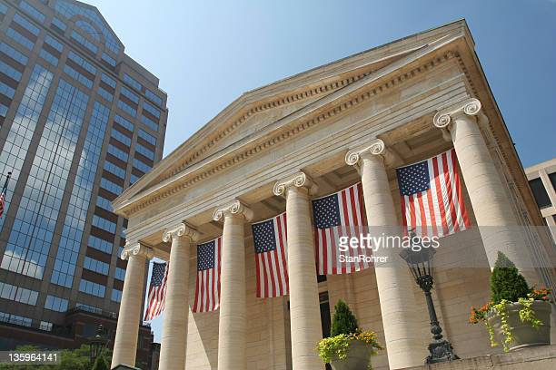dayton courthouse flags, dayton, ohio - ohio stock pictures, royalty-free photos & images