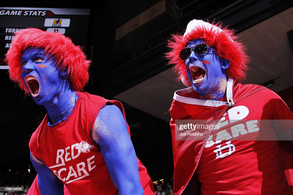 Dayton Flyers fans cheer during the game against the Murray State Racers at University of Dayton Arena on December 22, 2012 in Dayton, Ohio. The Flyers won 77-68.