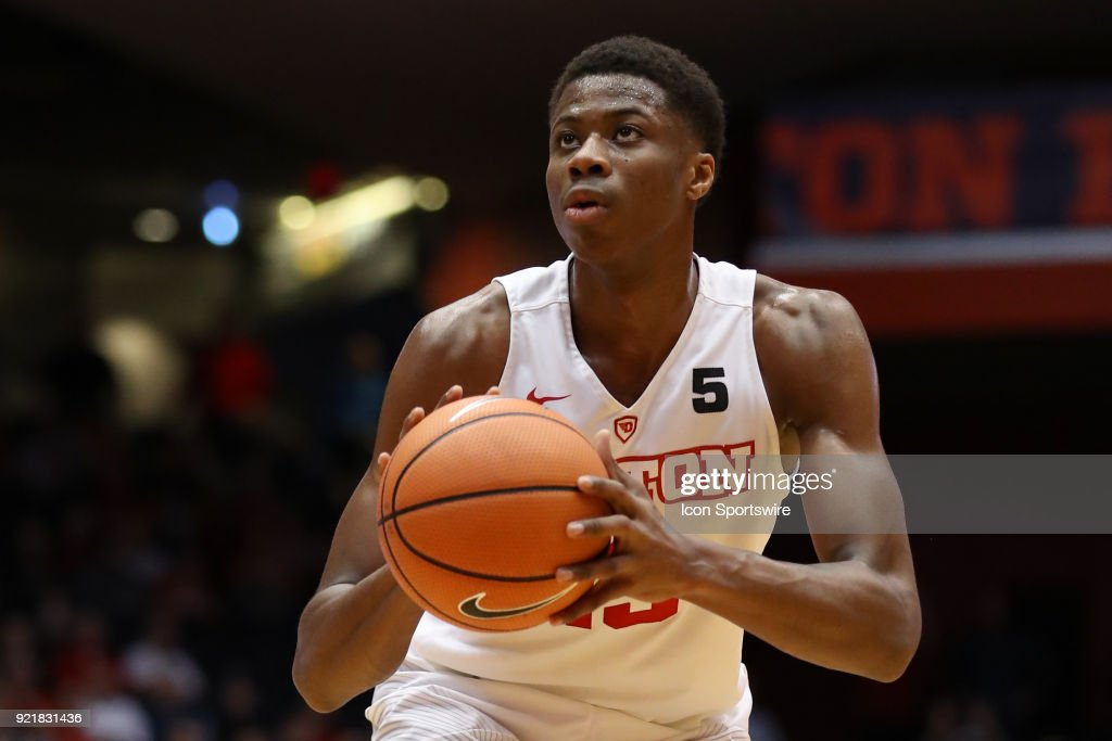 Dayton Flyers forward Kostas Antetokounmpo (13) attempts a free throw in a game between the Dayton Flyers and the Saint Louis Billikens on February 20, 2018 at University of Dayton Arena in Dayton, OH. The Flyers won 53-50.