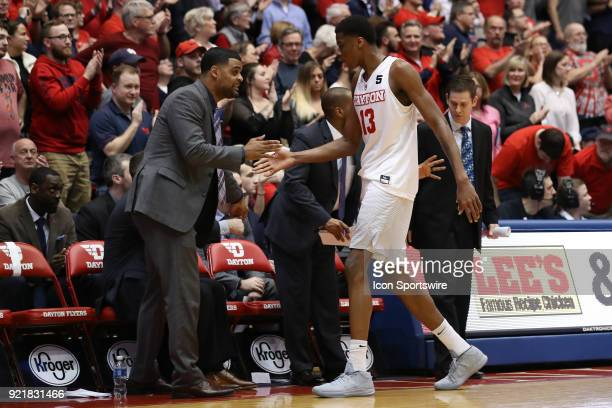 Dayton Flyers forward Kostas Antetokounmpo returns to the bench in a game between the Dayton Flyers and the Saint Louis Billikens on February 20 2018...