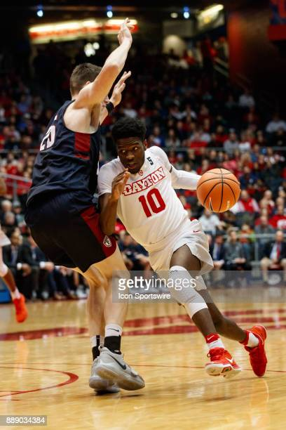 Dayton Flyers guard Jalen Crutcher drives to the basket during the second half of a game between the Dayton Flyers and the Pennsylvania Quakers on...
