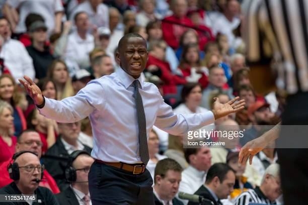 Dayton Flyers head coach Anthony Grant reacts after not getting a foul called in a game between the Dayton Flyers and the Virginia Commonwealth Rams...
