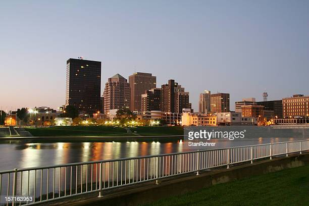 dayton morning cityscape skyline - ohio stock pictures, royalty-free photos & images