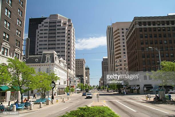 dayton ohio main street - ohio stock photos and pictures