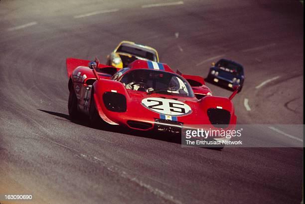 Daytona 24 Hour Race Dan Gurney and Chuck Parsons of North American Racing Team drive their Ferrari 512P Despite qualifying sixth on the grid Gurney...