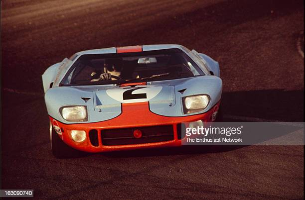 Daytona 24 Hour Race David Hobbs and Mike Hailwood of John Wyer Automotive Engineering drive their GulfFord GT40 After qualifying ninth on the grid...
