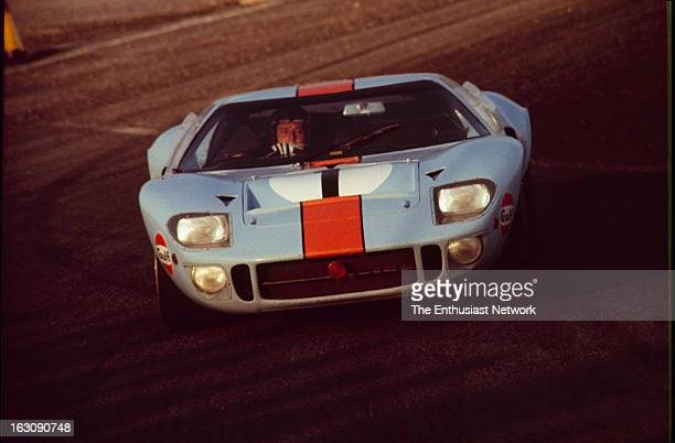 Daytona 24 Hour Race Jacky Ickx and Jackie Oliver of John Wyer Automotive Engineering drive their GulfFord GT40 Despite starting the race 8th on the...