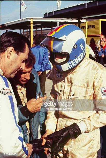 Daytona 24 Hour Race Matra Sports teammates and codrivers François Cevert and Jack Brabham talk by the pits The two will go on to finish the race in...