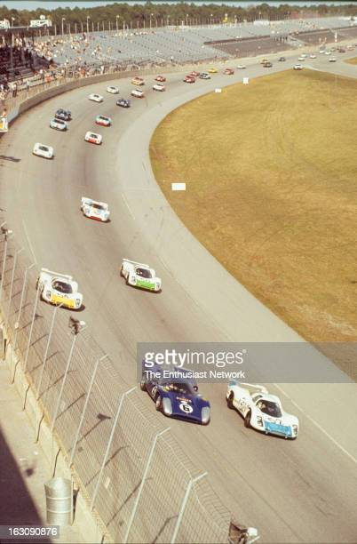 Daytona 24 Hour Race The field forums up for the start of the race Mark Donohue and Chuck Parsons of Penske Racing will go on to win the race in...