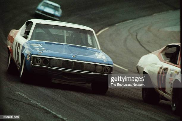 Daytona 500 NASCAR Mark Donohue of Penske Racing drives his AMC Matador however after only 18 laps a failed push rod would result in his DNF