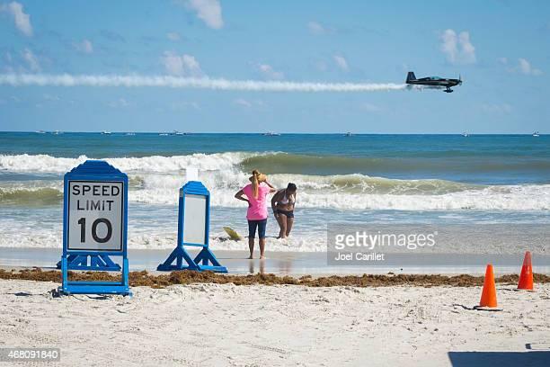 Daytona Beach air show and low flying plane