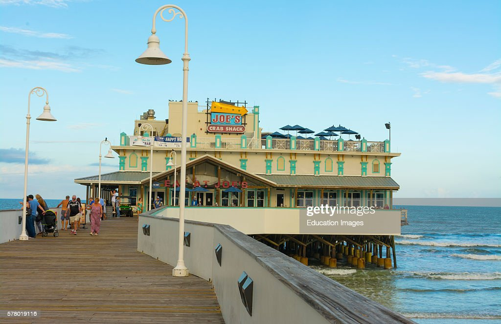 Daytona Beach Florida Main Street Pier And Boardwalk News Photo