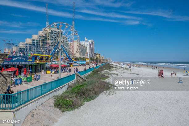 Daytona Boardwalk Amusement facilities, Daytona Beach, Florida, USA