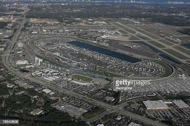 Daytona International Speedway in Daytona Beach Florida hosts the NASCAR Nextel Cup Series Daytona 500 on February 18 2007