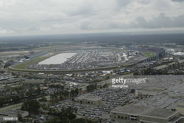 Daytona International Speedway in Daytona Beach, Florida hosts the NASCAR Nextel Cup Series Gatorade Duel on February 16, 2006.