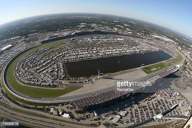 Daytona International Speedway in Daytona Beach Florida hosts the NASCAR Nextel Cup Series Daytona 500 on February 18 2007
