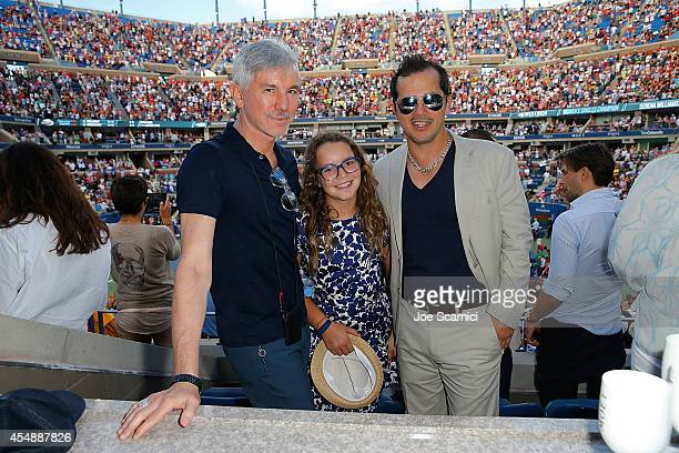 Daz Luhrmann and John Leguizamo attend the Moet & Chandon Suite at The 2014 US Open during the Women's Final at USTA Billie Jean King National Tennis...