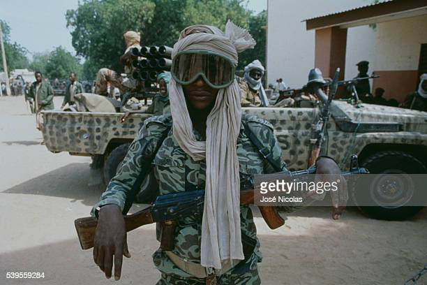 Daza warrior member of the troops of new President of Chad Idriss Deby who led a coup d'etat against former president Hissene Habre who subsequently...