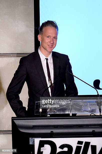 Dazed group's editorincheif Jefferson Hack speaks at The Daily Front Row's 4th Annual Fashion Media Awards at Park Hyatt New York on September 8 2016...