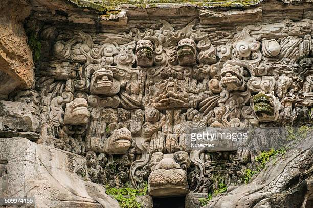 dazu caves, china - dazu rock carvings stock photos and pictures
