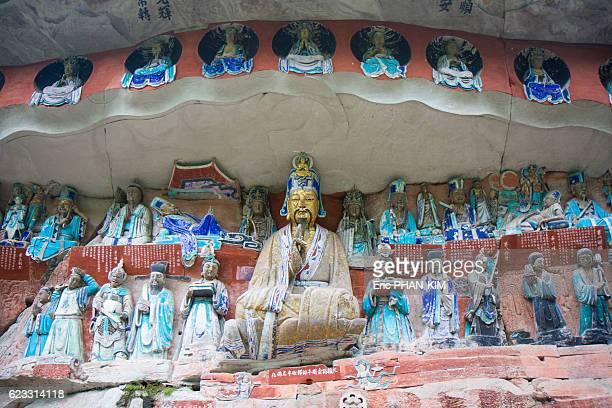 dazu rock carvings, sichuan, china - dazu stock photos and pictures