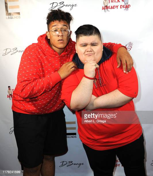 DBangz and Jovan Armand attend the DBANGZ And Lil Boom Thick N Already Dead Concert held at The PCH Club on October 4 2019 in Long Beach California