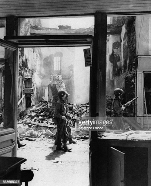Débarquement des soldats alliés en 1944 à Carentan France