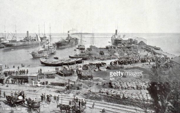 Débarquement des troupes françaises à Beyrouth en 1919 Liban