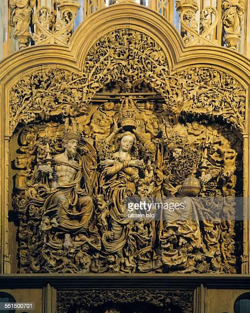 DBreisach am Rhein Breisgau Upper Rhine BadenWuerttemberg Minster Saint Stephan Stephan Cathedral Late Romanesque high altar Gothic renaissance...