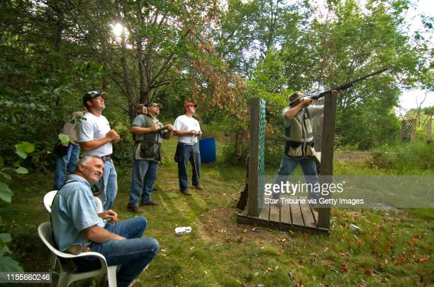 Dbrewster@startribune.com Tuesday_7/10/07_Santiago WILD MARSH SPORTING CLAYS A league team from Miller Architects and Builders took turns shooting...