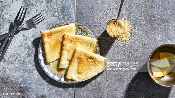 Buttery crepes photographed for Voraciously at The Washington Post via Getty Images in Washington DC