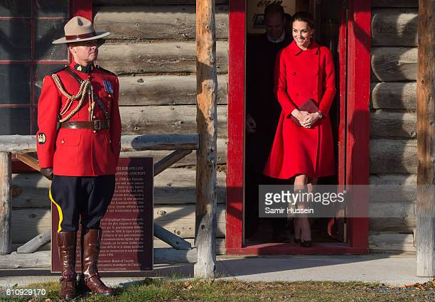 DCatherine, Duchess of Cambridge visits the MacBride Museum on September 28, 2016 in Whitehorse, Canada.