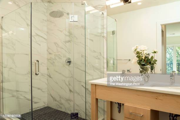 August 18:Master Bath in Unit 6 at Boss Shepherd on August 18, 2020 in Washington DC.