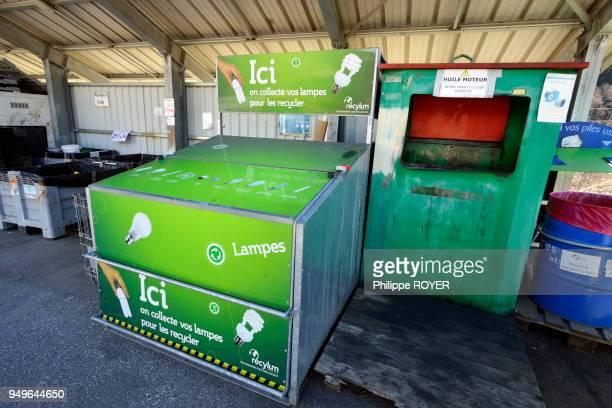 Déchetterie et poubelle selective à BourgSaintMaurice Savoie France