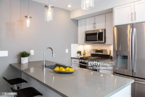 Kitchen in Unit 4 at the Condominium at 1021 17th Street NE on July 31 2019 in Washington DC