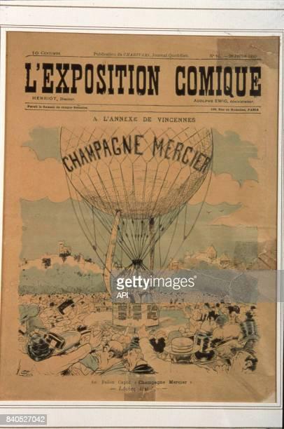 Décollage du ballon 'Champagne Mercier' lors de Exposition universelle de 1900 à Paris France