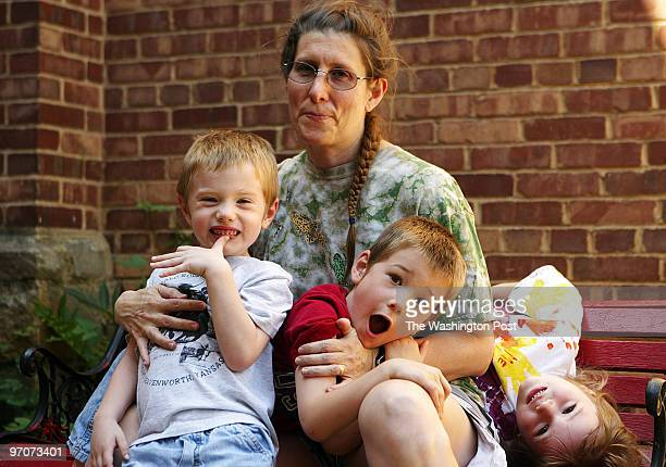 DCparents DATE Pouya Dianat/The Washington Post NEG # 193429 Washington DC Mary Melchior mother of triplets Charlie Gregory and Preston is optimistic...