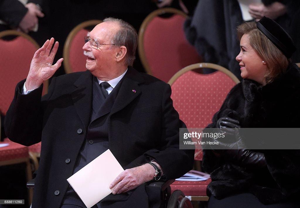 Funerals of Queen Fabiola in the Cathedral Saints Michel et Gudule : News Photo