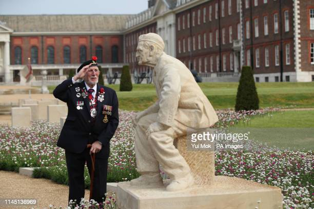 DDay and Operation Market Garden veteran Joe Cattini at the opening of the DDay 75 Garden at the RHS Chelsea Flower Show at the Royal Hospital...