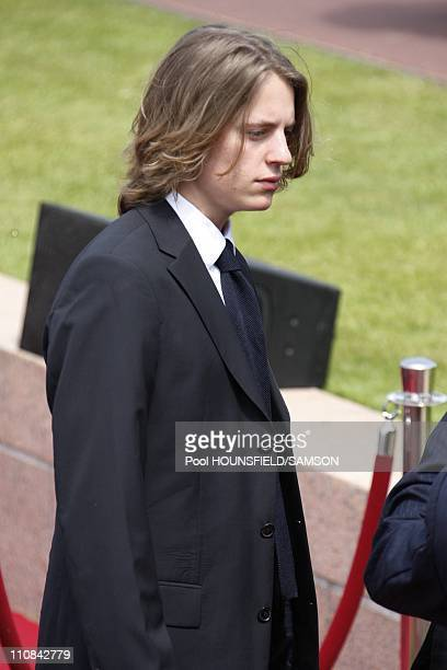 Day Commemorations At The Us Military Cemetery Of CollevilleSurMer In France On June 06 2009 Nicolas Sarkozy's son Pierre Sarkozy
