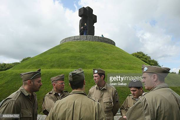 Day re-enactment enthusiasts dressed as World War II American soldiers from Spain visit the German Cemetery where approximately 21,000 German World...