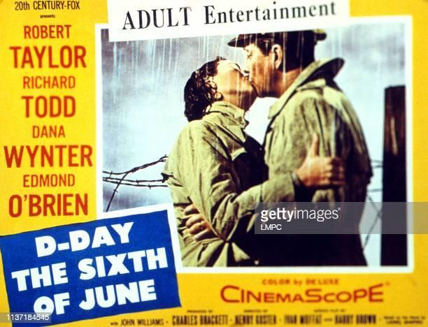Dday The Sixth Of June lobbycard Dana Wynter Robert Mitchum 1956