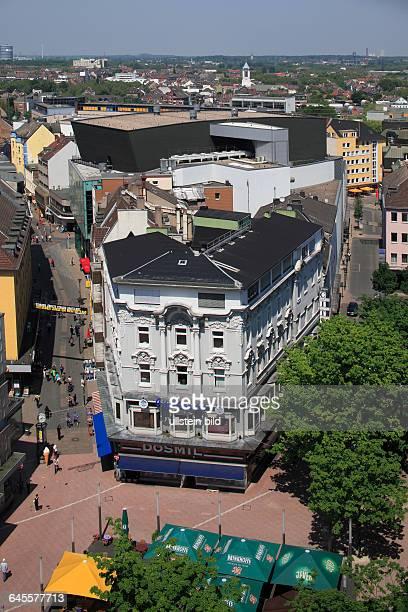 DDortmund Ruhr area Westphalia North RhineWestphalia NRW city view aerial view town centre Platz von Leeds Leeds square Brueck street concert house...