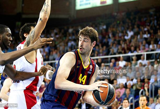 Ante Tomic in the second game of the quarterfinals of the Euroleague basketball match played at the Palau Blaugrana on April 17 2015 Photo Joan Valls...