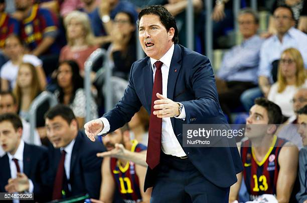 Xavi Pascual in the second game of the quarterfinals of the Euroleague basketball match played at the Palau Blaugrana on April 17 2015 Photo Joan...