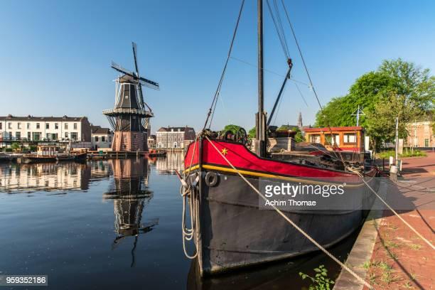 de adriaan windmill, haarlem, the netherlands, europe - haarlem stock photos and pictures
