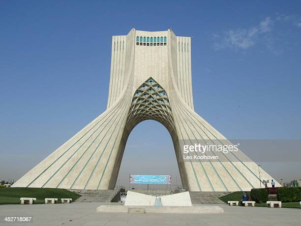 De Azadi-toren is in 1971 gebouwd om het 2500-jarige jubileum van het Perzische Rijk te vieren en is nu het bekendste bouwwerk van Teheran, Iran.