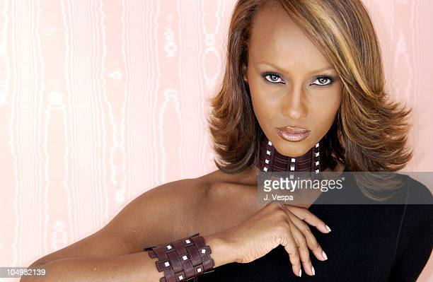 De Beers announces a partnership with Iman acclaimed supermodel and businesswoman at the 55th Cannes Film Festival Iman's woven Aubergine leather...
